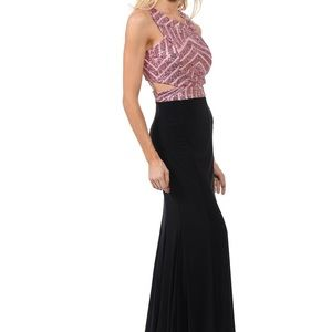 Dresses & Skirts - pink & black prom/pageant dress